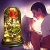 Стабилизированная РОЗА В КОЛБЕ С LED ПОДСВЕТКОЙ, ночник, вечная роза, 17 СМ Лучший подарок!, фото 6