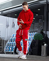 Демисезонный спортивный  костюм Firestarter красный (худи Classic + спортивные штаны Wline)