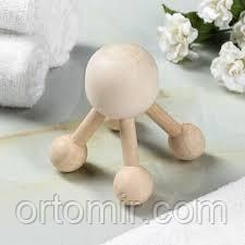 Массажер Молекула деревянный
