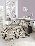 Постельное белье FIRST CHOICE Satin Cotton евро 'Calisto Toprak' (постельное белье евро сатин Турция)