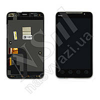 Дисплей HTC A9292 с черным тачскрином и рамкой