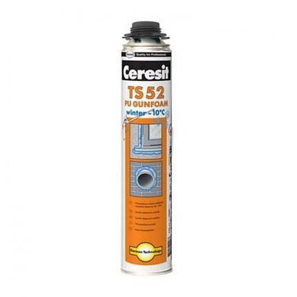 Пена монтажная Ceresit TS 52 зимняя профессиональная (750 мл), фото 2