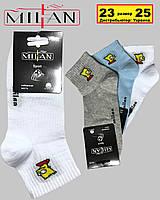 """Носки женские  SPORT хлопок cредняя длина паголенка  """"Milan"""" Симпсоны  белые серые голубые"""