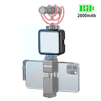"""Накамерный свет Ulanzi VL49 LED для фото видеосъемки 5500К с креплением для холодного башмака и резьбой 1/4 """""""