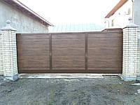 Алюмінієві відкадкатні ворота 4000*1600 з сендвіч панелями