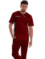 Стильний чоловічий медичний брючний костюм коттон, фото 1
