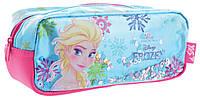Пенал школьный для девочки мягкий голубой Frozen YES TP-08