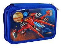 Пенал школьный для мальчика синий 1 Вересня HP-01 Star Explorer