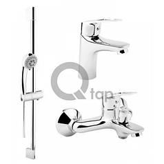Набор смесителей для ванной 3 в 1 Q-tap QT SET 35-411 CRM
