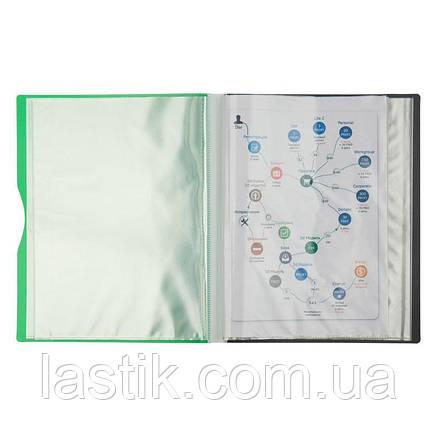 Дисплей-книга, 40 файлів, А4 (зелений), фото 2