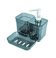 Набор аксессуаров для ванной CUBE ( 3 предмета ) бирюзовый