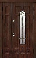Двери входные полуторные Алисия со стеклом серии Классик ТМ Каскад
