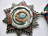 Орден Дружбы народов с документом Оригинал Эмаль Серебро 925 проба, фото 5