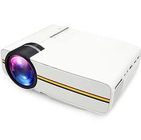 Проектор портативный мультимедийный RIAS YG400 Projector LED с динамиком White (2_008371)