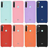 Оригинальный силиконовый чехол для Xiaomi Redmi Note 8 Silicone case (Разные цвета)