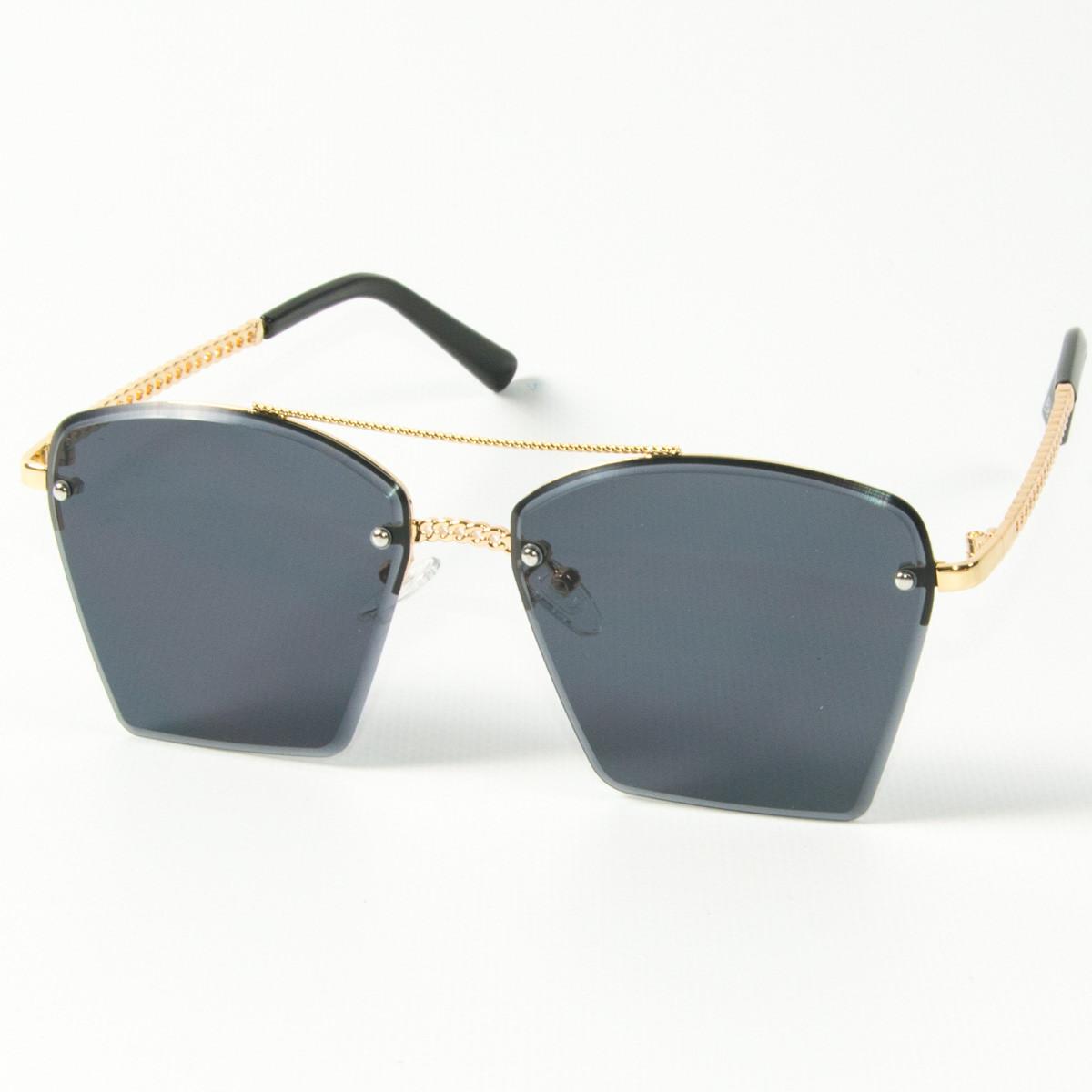 Оптом женские солнцезащитные квадратные очки  (арт. 3-2511/1) черные