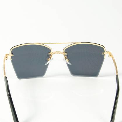 Оптом женские солнцезащитные квадратные очки  (арт. 3-2511/1) черные, фото 3