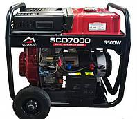 Электрогенератор дизельный 5,5 кВт, 220/380В, фото 1