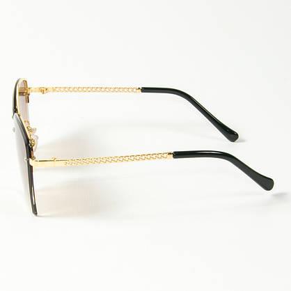 Оптом женские солнцезащитные квадратные очки  (арт. 3-2511/2) коричневые, фото 2