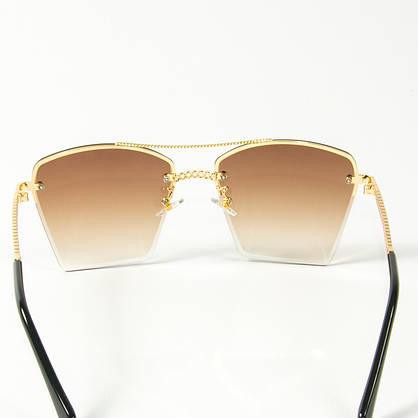 Оптом женские солнцезащитные квадратные очки  (арт. 3-2511/2) коричневые, фото 3