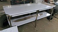 Стол производственный из нержавейки 2000х600х850
