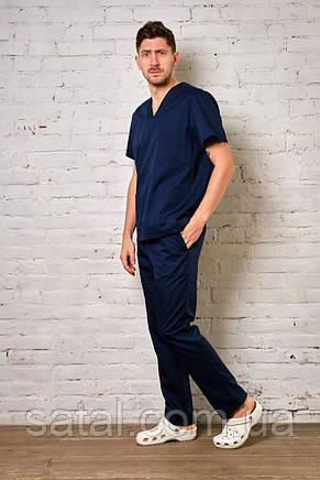 """Медицинский костюм """"Брюс"""". Темно-синий. Рукав короткий. Саталь, фото 2"""