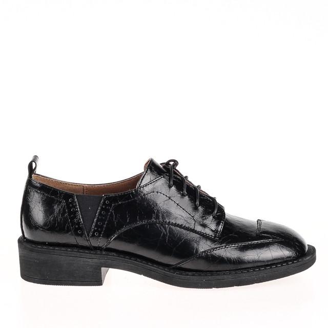 Женские натуральные туфли  Fabio Monelli B08603F-4894 BLACK KOGA весна 2020