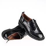 Женские натуральные туфли  Fabio Monelli B08603F-4894 BLACK KOGA весна 2020, фото 3