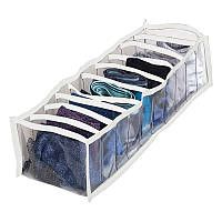 Прозрачный органайзер для трусиков и носков 10 ячеек S Pvh-s-white (Белый)