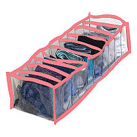 Прозрачный органайзер для трусиков и носков 10 ячеек S Pvh-s-Pink (Розовый)