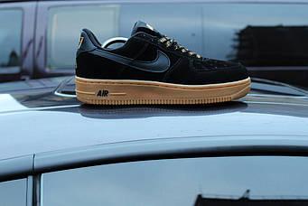 Мужские черные кроссовки N!ke Air Force - последний размер!