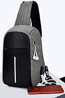 Миниатюрный городской рюкзак антивор Зарядка через usb умка рюкзак Crossbody Повседневный Код: КГА1268