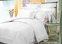Комплект постельного белья Сатин Stripe PREMIUM, WHITE 1/1см (Полуторный)