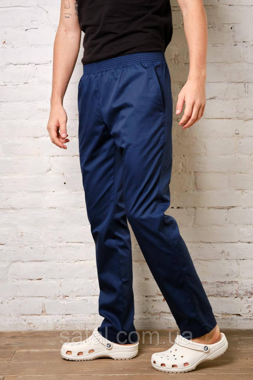 Медицинские брюки для мужчин. Коттон. Темно-синий
