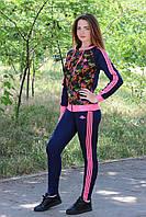 Спортивный костюм для девочек в школу эластик 7141 Zeta-m