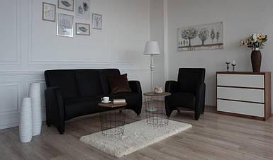 Комплект мягкой мебели Синди черный (Embawood)