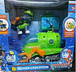 Герои Морской патруль, свет, звук, открывается рюкзачок,  Рокки ,детская игрушка