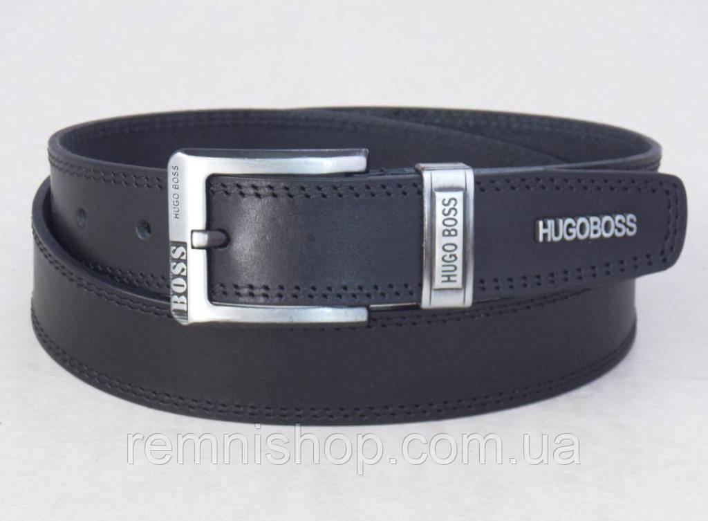 Чоловічий шкіряний ремінь Hugo Boss джинсовий