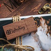 Флешка деревянная, USB 3.0 Flash Drive с гравировкой логотипа для свадебных фотографов 8 Гб, 16 Гб, 32 Гб 32GB