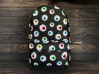 Городской рюкзак черный | с принтом унисекс