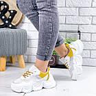 Женские белые кроссовки, из текстиля/эко кожи 41 ПОСЛЕДНИЙ РАЗМЕР, фото 2