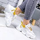 Женские белые кроссовки, из текстиля/эко кожи 41 ПОСЛЕДНИЙ РАЗМЕР, фото 3