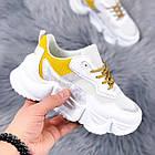 Женские белые кроссовки, из текстиля/эко кожи 41 ПОСЛЕДНИЙ РАЗМЕР, фото 8