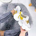 Женские белые кроссовки, из текстиля/эко кожи 41 ПОСЛЕДНИЙ РАЗМЕР, фото 5