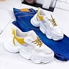 Женские белые кроссовки, из текстиля/эко кожи 41 ПОСЛЕДНИЙ РАЗМЕР, фото 9