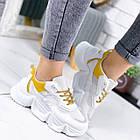 Женские белые кроссовки, из текстиля/эко кожи 41 ПОСЛЕДНИЙ РАЗМЕР, фото 4