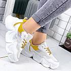Женские белые кроссовки, из текстиля/эко кожи 41 ПОСЛЕДНИЙ РАЗМЕР, фото 6