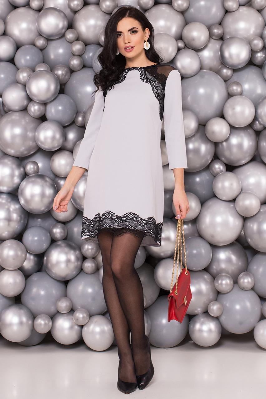 Платье стильное с кружевами