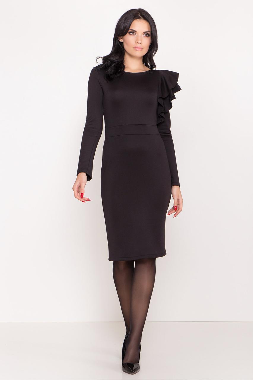 Платье трикотажное черное