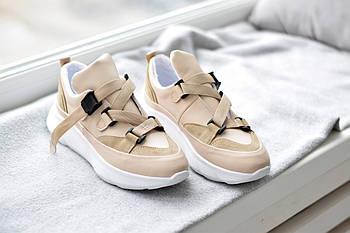 Бежевые кроссовки Abbi
